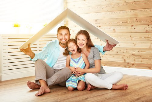 Happy First-time homebuyer family